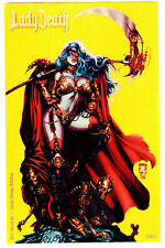 LADY DEATH HOT SHOTS #1 LADY STEAM LTD 50 MIKE KROME METAL VARIANT UNSIGNED NM