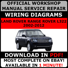 # OFFICIAL WORKSHOP Service Repair MANUAL LAND ROVER RANGE ROVER L322 2002-2012