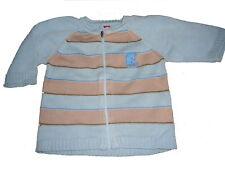 Esprit tolle Strick Jacke Gr. 68 hellblau-beige !!