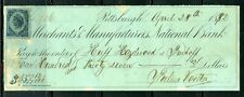 US MECHANICS & MANUFACTURES BANK CANCELLED CHECK 6/20/1906 WITH REVENUE STAMP
