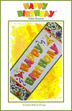 Happy Birthday Table Runner with Embroidery CD