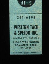 1960s? Western Tach & Speedo Mobile Unit Ship by Truck Commerce CA Los Angeles C