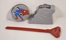 "2006 Super Speed Superman Spinner 3"" Burger King Movie Action Figure DC Comics"