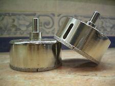 "1 pc 70mm 2 3/4"" inch THK Diamond coated drill bits hole saw core glass drills"
