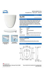 EL270-000 White Toilet Seat for American Standard