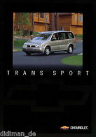 Chevrolet Trans Sport Prospekt 1998 D brochure Autoprospekt Broschüre broschyr