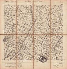 MASSE LOMBARDA, LUGO, SANT'ACHAT AUF SANTERNO. Istituto Geografico Militare.1892