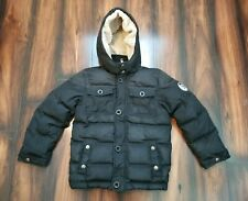 DIESEL Girl's Down Puffer Black Jacket Sz 12 Removable hoodie only the brave