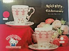 Hello Kitty 45th anniversary tea cup set RARE Toreba Japan