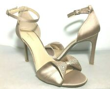 "Max Studio Rorima Satin Ankle Strappy Sandals Size 9M Open Toe 3"" High"