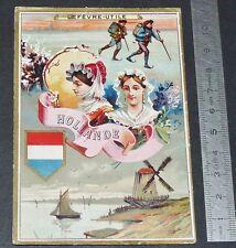 CHROMO LEFEVRE-UTILE LU NANTES 1887-1888 LA HOLLANDE PAYS-BAS NEDERLAND HOLLAND