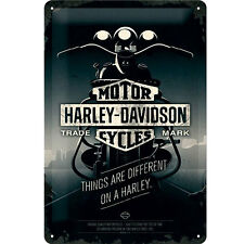 Nostalgic-art 22256 Harley-davidson Things Are Different Plaque de Métal Mul