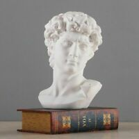 Greek Mythology David Head Bust Statue Mini Europe Michelangelo Retro Art Skull
