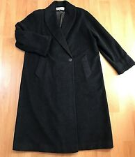 Women's Christian DIOR Heavy Shawl Lambswool Piana Loro Full Length Coat  Sz 12
