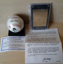 Willie Mays Gold Card and Replica Autograph Ball Set Serial # 012631