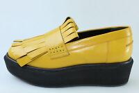 scarpe donna PALOMA BARCELO 36 mocassini giallo pelle DS428