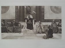 Byzantine Romen Emperor Justinian and Council Constantinople 1894 Photogravure