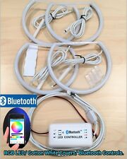 Cotton Ring RGB SMD LED Bluetooth Angel Eye Halo Kit For 92-99 E36 M3 318ti 2/4D