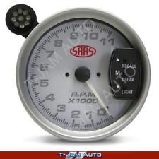 SAAS Tacho White Face 5 Inch 125mm 11,000 rpm Gauge Shift Light