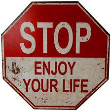 Schild  STOP ENJOY YOUR LIVE 40 cm Wandschild Wanddeko Holzschild Wandtattoo