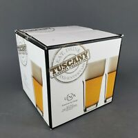 Lenox Tuscany Pint Beer Glass with Crown Clear Set of 4