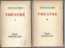 Theatre Sacha Guitry 2 tomes chez Plon 1949