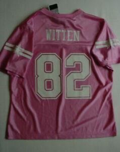 NWT Jason Witten 82 Jersey Women's Dallas Cowboys Pink/White m L runs small