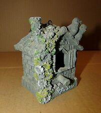 Miniature 3x4 Molded Resin Rustic Decorative Hanging Birdhouse Basil Free S/H