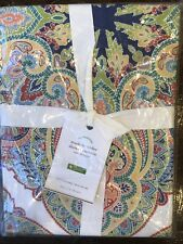 "Pottery Barn Penelope Printed Shower Curtain Organic Cotton 72"" New Decor"