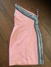 Gianni Versace Dress Italy One Shoulder Metal Accent S
