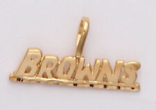 Cleveland Browns Team Name Necklace Pendant Charm  24k Gold Plated Browns