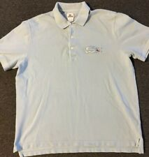 Lacoste Big Croc Logo Polo Shirt 7 XL Baby Blue Alligator Polo Sport Vtg 90s 80s