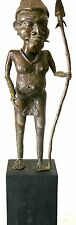 "CAMEROON BRONZE Warrior SCULPTURE - 16"" High (impressive detail work)"