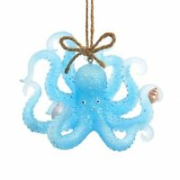 Glittery SEA BLUE OCTOPUS Christmas Ornament, by Kurt Adler