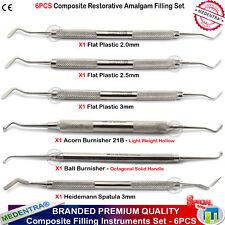 Medentra ® Professionnel Amalgame Dentaire Plastique Composite Instruments Set de 6 Lab