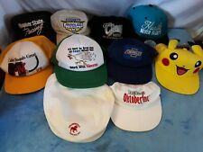 Vintage Lot of Snap Back Mesh Trucker Hats Baseball Caps pokemon chevy beer more