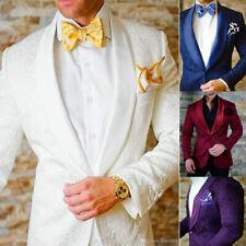 Groomsmen Groom Tuxedos Shawl Lapel One Button Men Suits Wedding/Prom Best Man