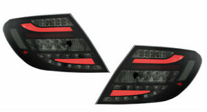 Mercedes-Benz W204 C Class 2007-11 Dectane Black/Smoked LED Taillight Pair New