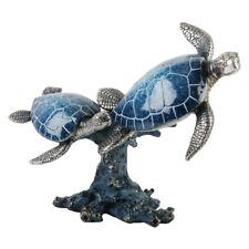 Turtle Figurine 9 13/16in Glazed Animal Decor, Juliana Collection Great Britain