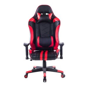 Gaming Home Chair Office Adjustable Comfortable Racing Red Black Chair