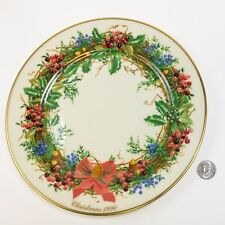 Vintage Lenox 1990 New Jersey Colonial Christmas Wreath Ltd Edition Plate