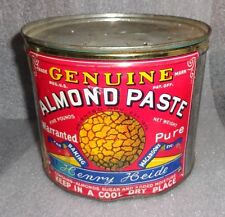old Henry Heide almond paste tin