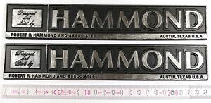 Hammond Logo Emblem Decal