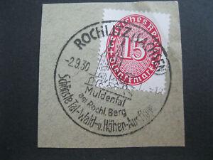 Deutsches Reich Mi.Nr. 124 Werbestempel ROCHLITZ Sachsen Muldental Briefstück