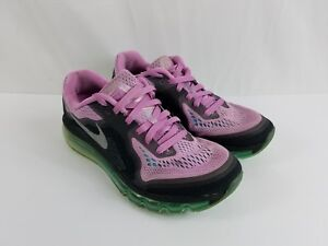 Women's NIKE Air Max 2014 Purple Turquoise Running Shoes 621078-504 Size.8