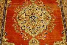 Circa 1930s Antique Detailed Tabrz Taba Tabai Rug 3.6x4.10 Kork Wool
