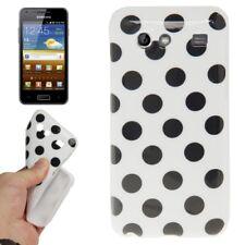 TPU Case Hülle für Samsung i9070 Galaxy S Advance in weiß mit schwarzen Punkten