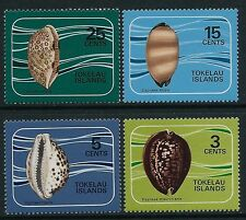 1974 TOKELAU COWRIE SHELLS SET OF 4 FINE MINT MNH/MUH