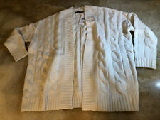 Polo Ralph Lauren cashmere and wool cardigan, off white, size S/M RRP £ 249