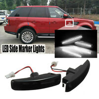 LED Smoked Side Marker Lamps For 06-13 Range Rover Sport Discovery   !- D*//